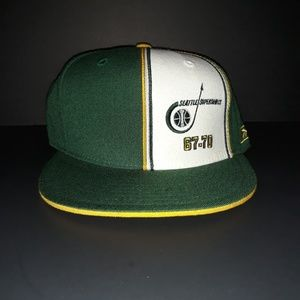8986ba180b784 Reebok · Seattle Supersonics Fitted Hat